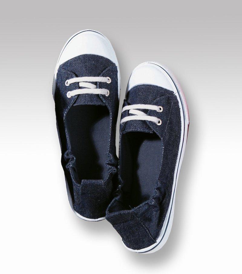Zapatillas deportivas mujer textil puntera goma