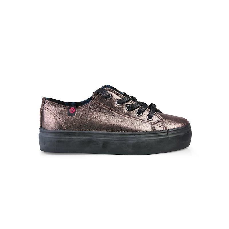 Zapatillas deportivas urbanas brillantes con cordones