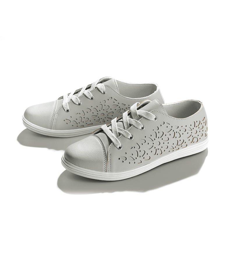 Zapatillas deportivas mujer con detalles troquelados