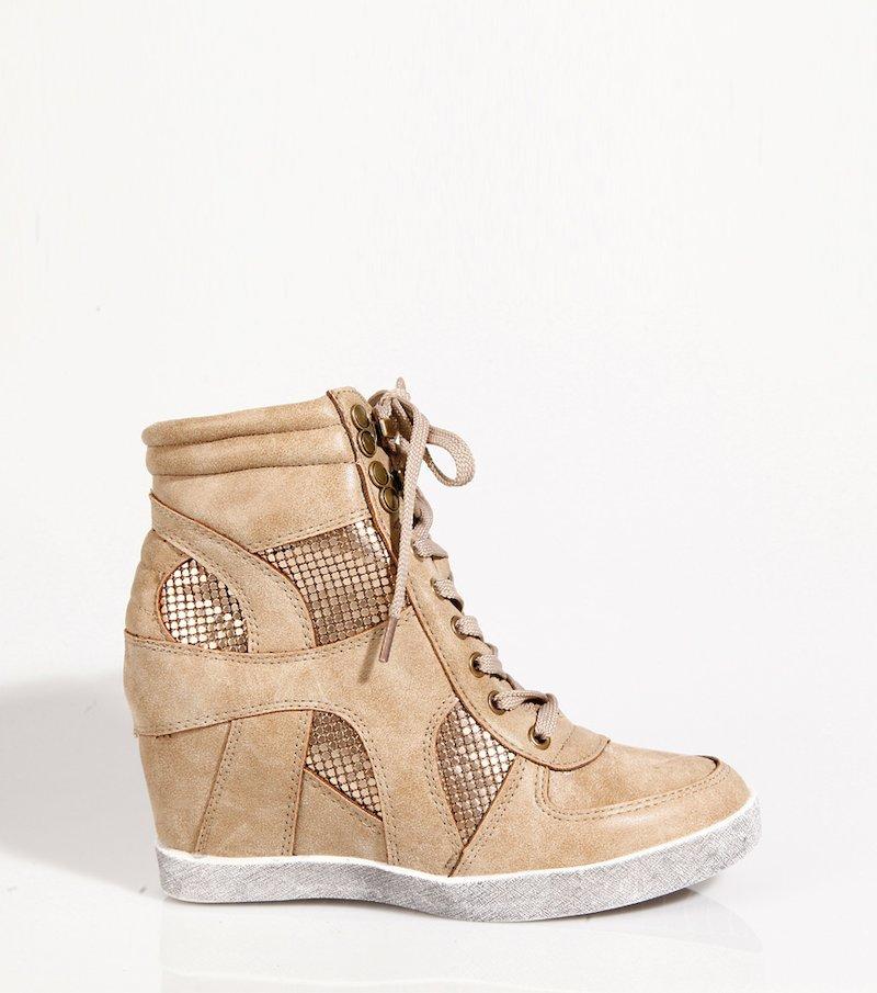 Zapatillas deportivas mujer detalles metalizados