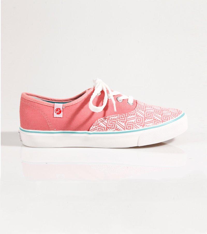 Zapatillas deportivas mujer lona coral