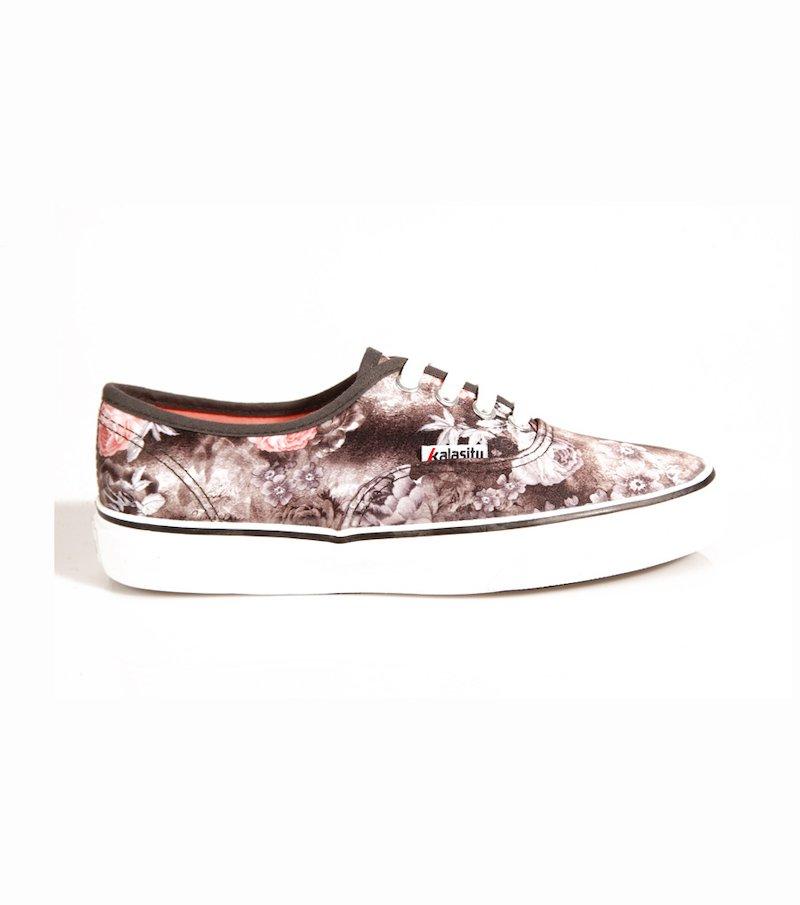 Zapatillas deportivas mujer estampado floral