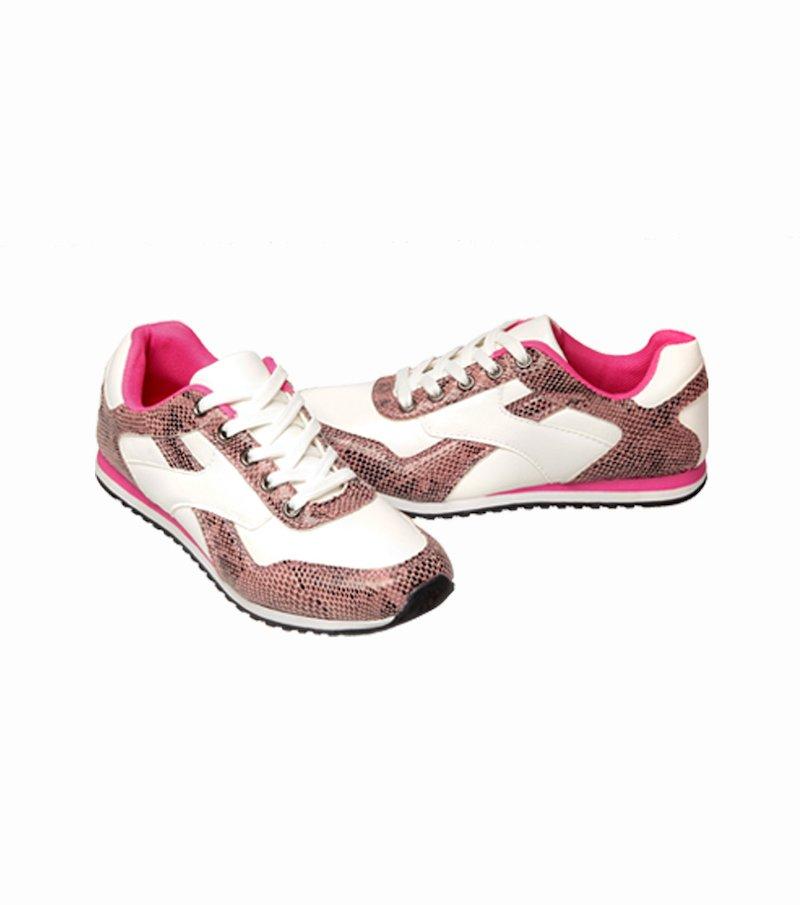 Zapatillas deportivas mujer con cordones y detalles símil re
