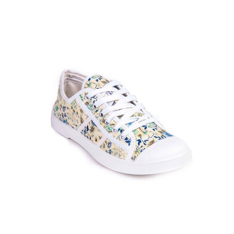 Zapatillas deportivas mujer estampado flores