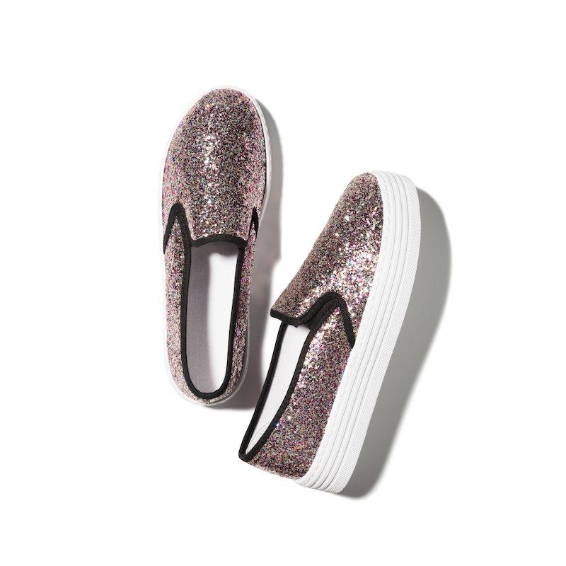 Zapatillas deportivas de acabado brillante glitter