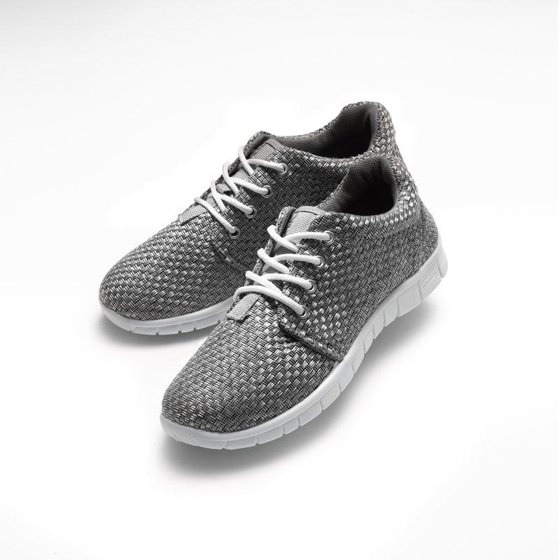 Zapatillas deportivas cordones acolchadas gris