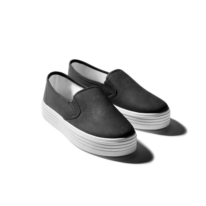 Zapatillas deportivas símil piel con suela de caucho