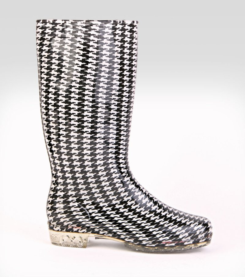 Botas de agua altas mujer Checkers