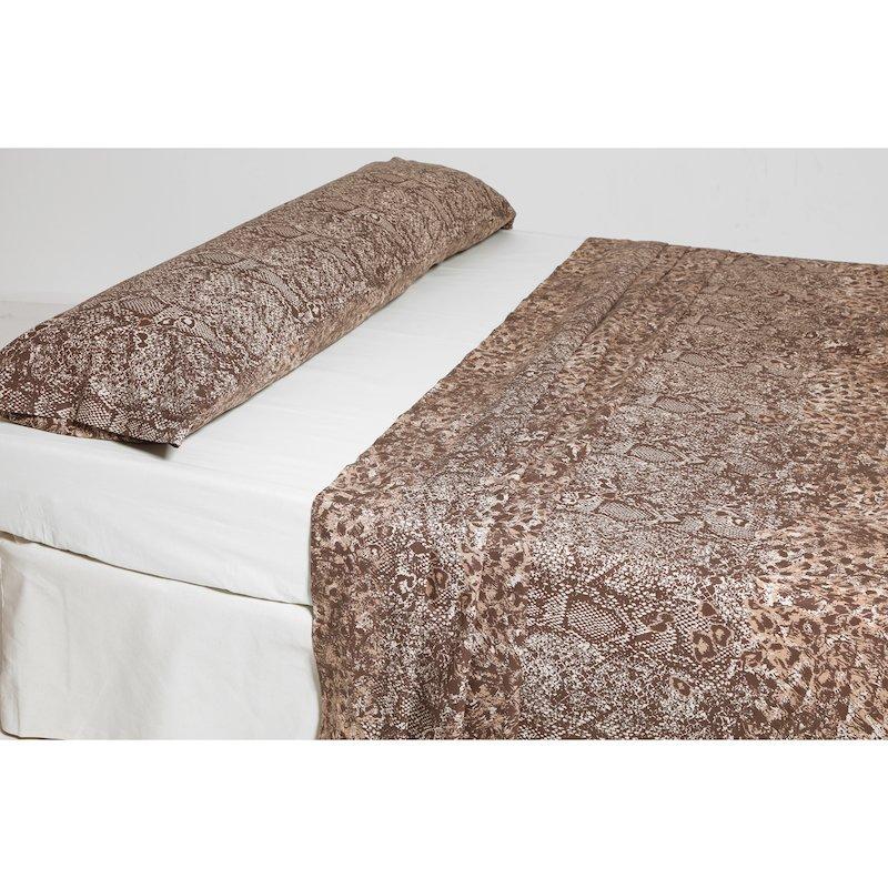 Juego cama 2 piezas estampado reptil polialgodón