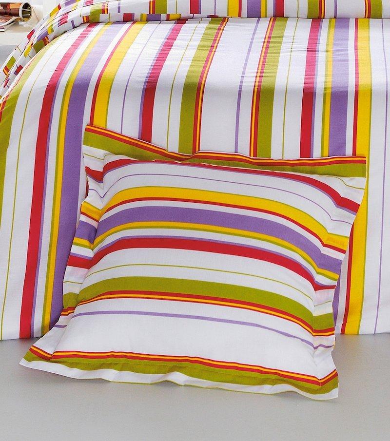 Funda de cojín estampado Rayas multicolor