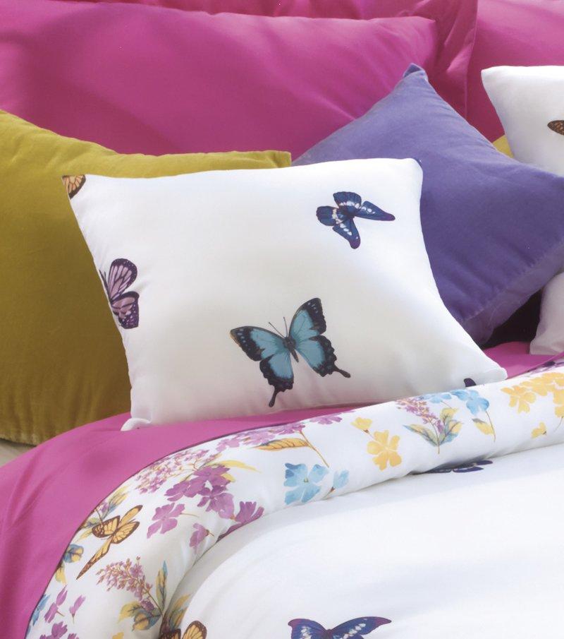 Set de 2 fundas de cojín mariposas multicolor