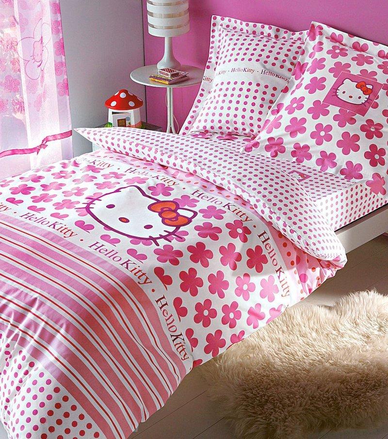 Funda de cojín Hello Kitty de algodón