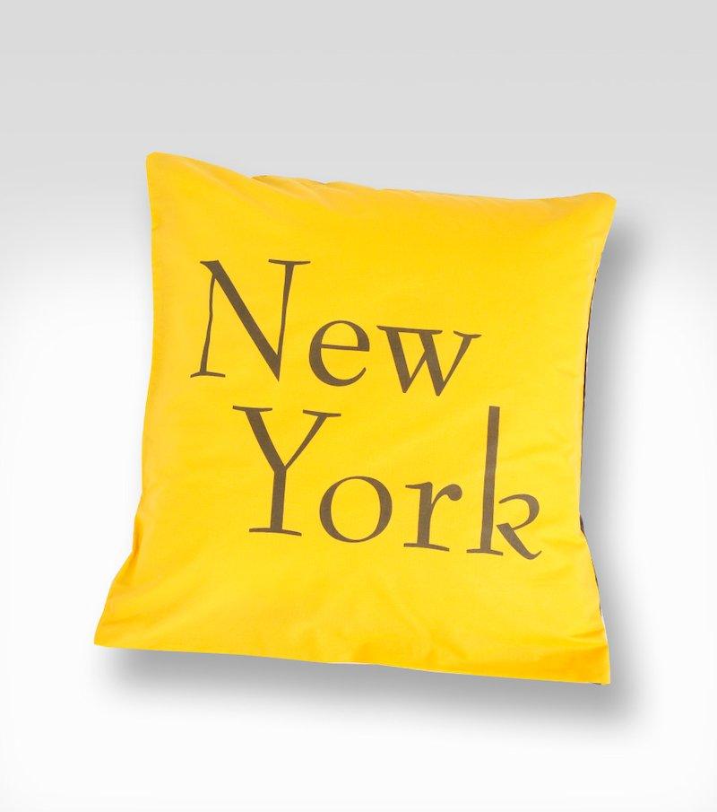 Funda de cojín reversible New York 100% algodón