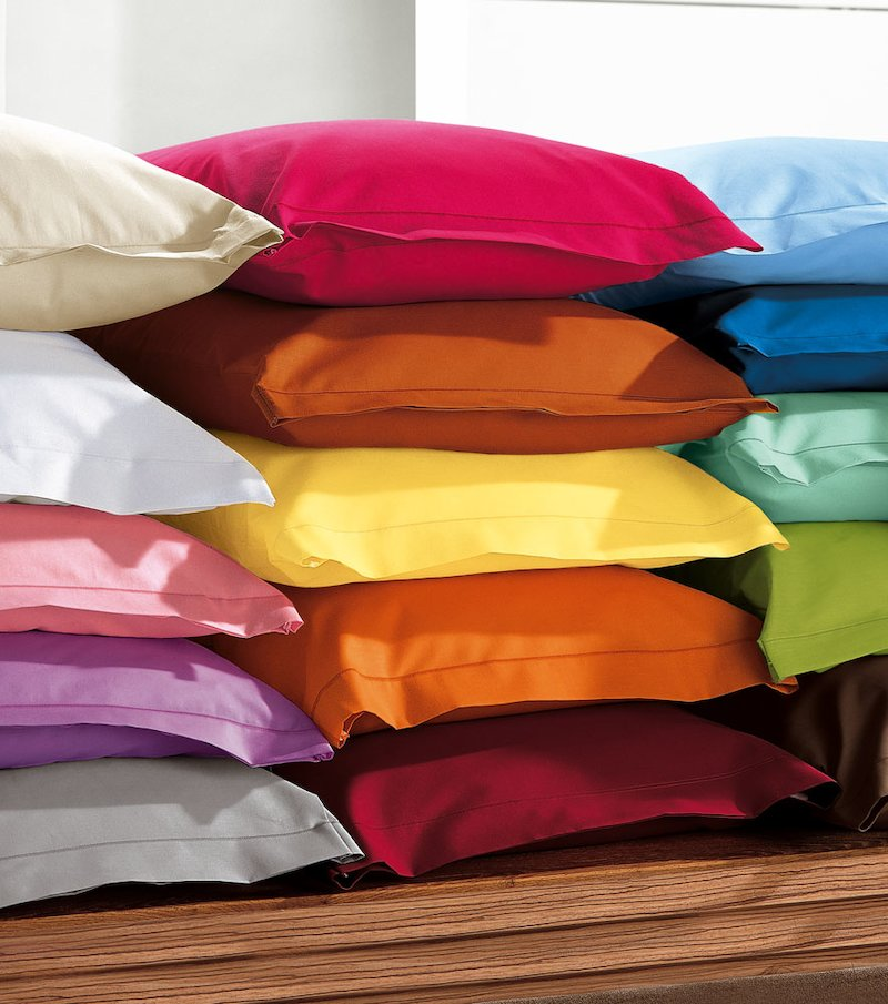 Funda almohada 50% algodón 50% poliéster (colores)