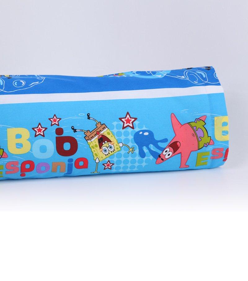Funda de almohada estampada Bob Esponja polialgodó