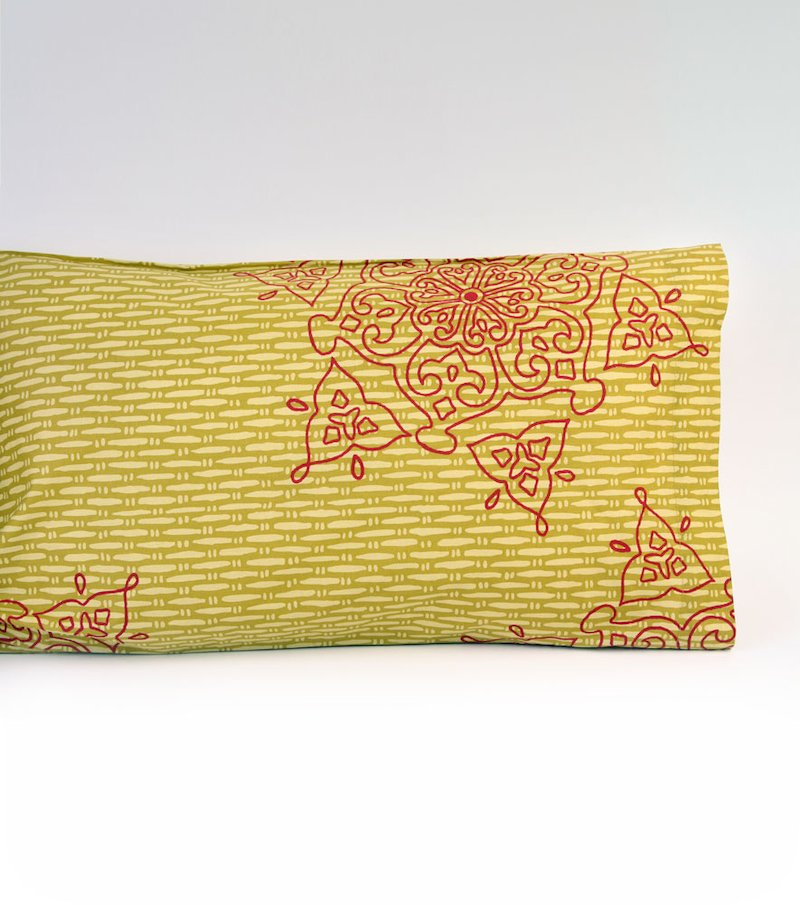 Funda de almohada GRIMBY alegre estampado multicolor