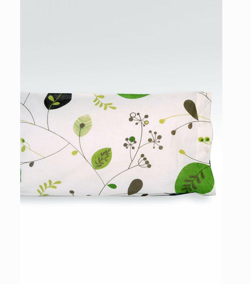 Funda de almohada con estampado de hojas