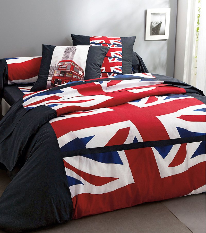 Funda de almohada estampada Big Ben