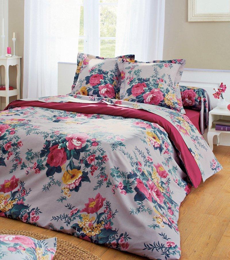 Funda de almohada estampada Floral polialgodón