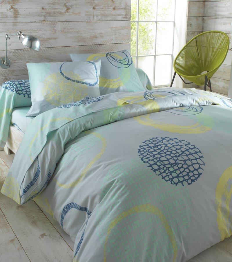 Funda de almohada estampada Cosmos 100% algodón
