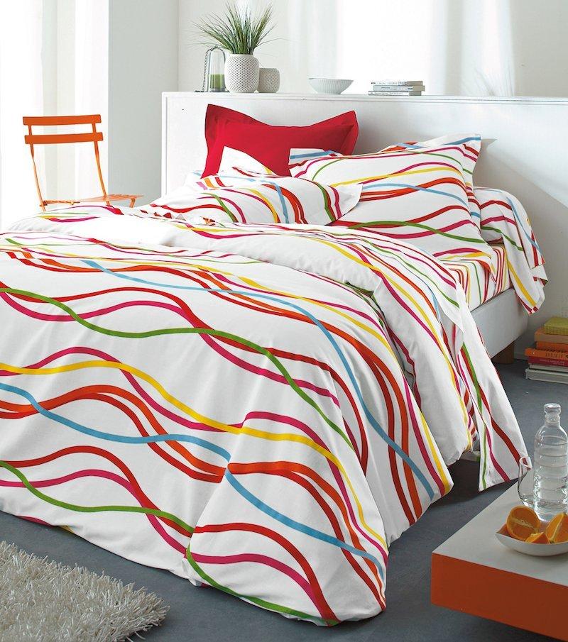 Funda almohada estampada Serpentins 100% algodón
