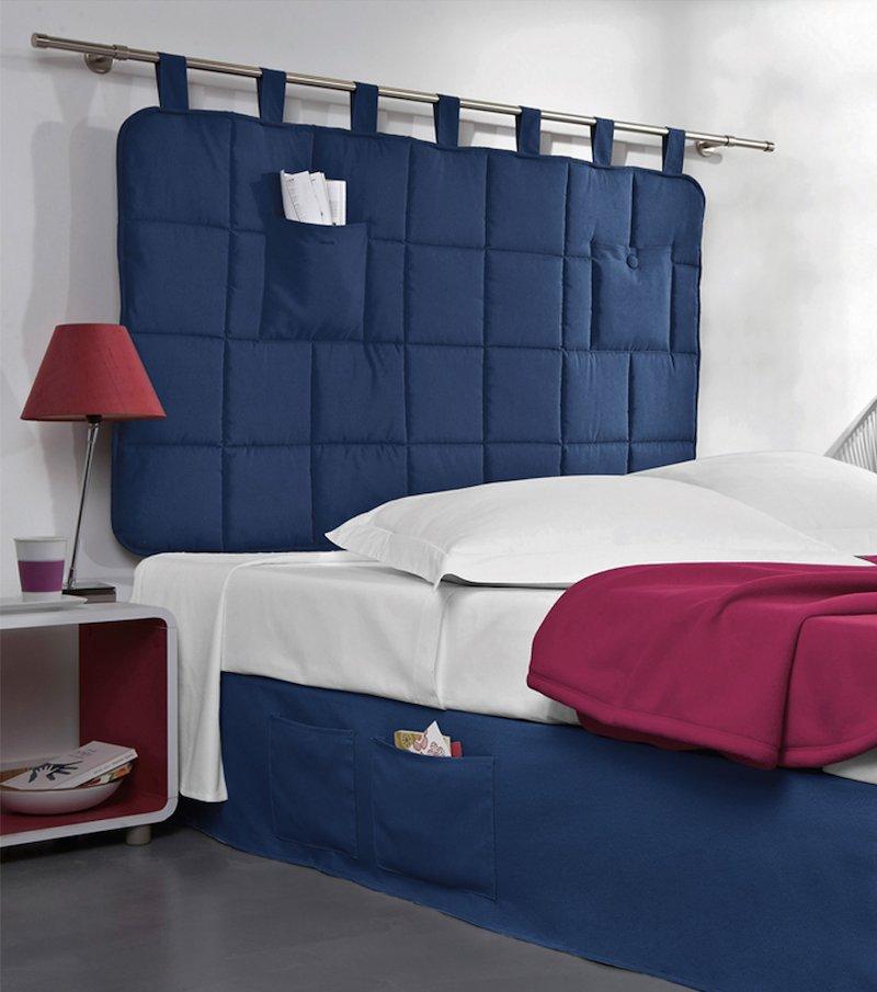 Cabezal cama acolchado con trabillas