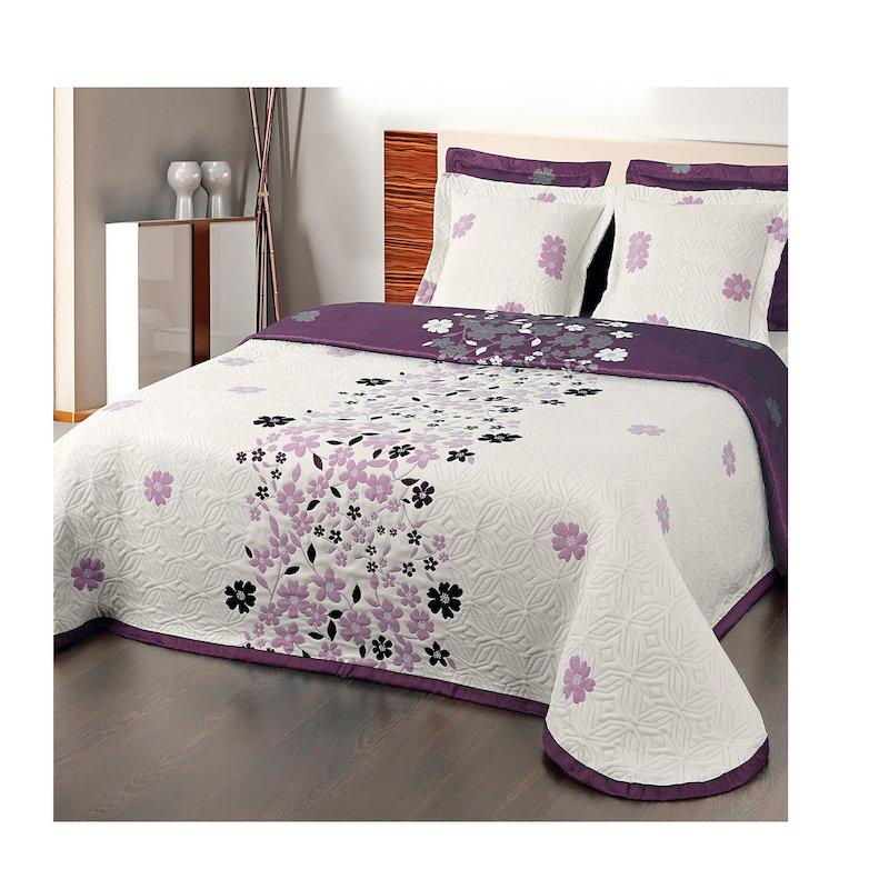 Colcha para cama reversible jacquard MORGAN