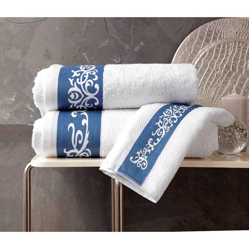 Lote de 3 toallas cenefa jacquard