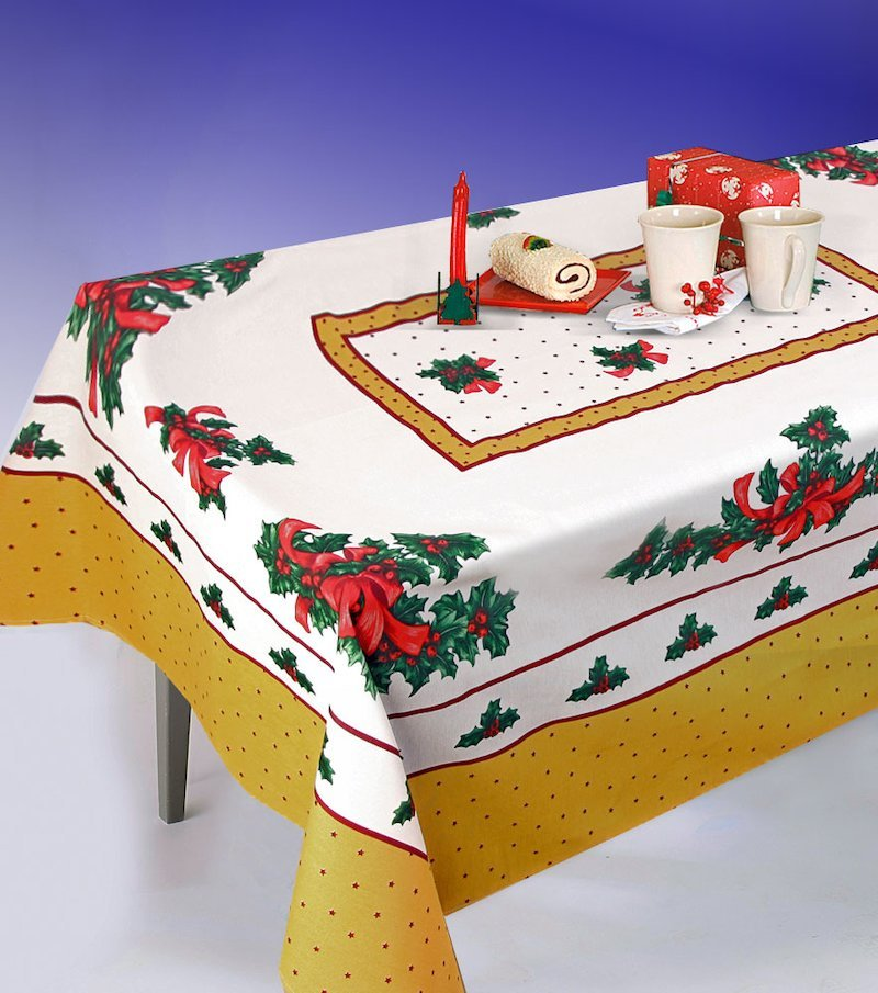 Mantel de mesa rectangular estampado Navidad