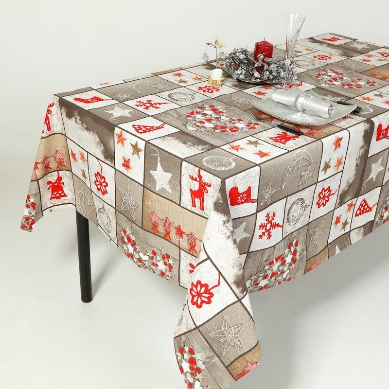 Mantel de Navidad estampado árbol