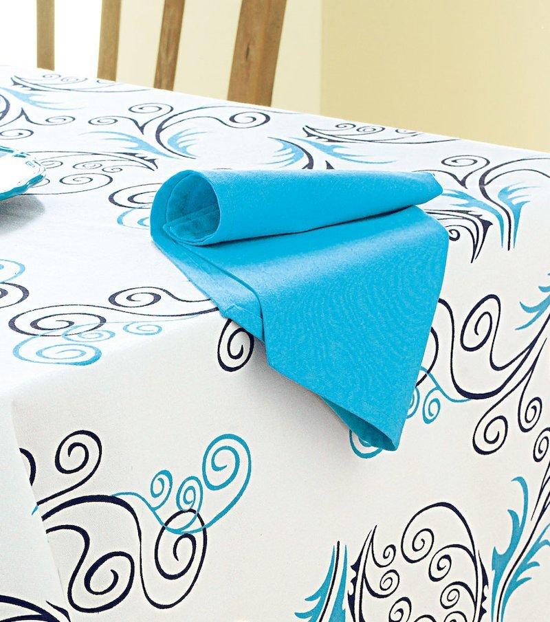 Lote de 6 servilletas azul