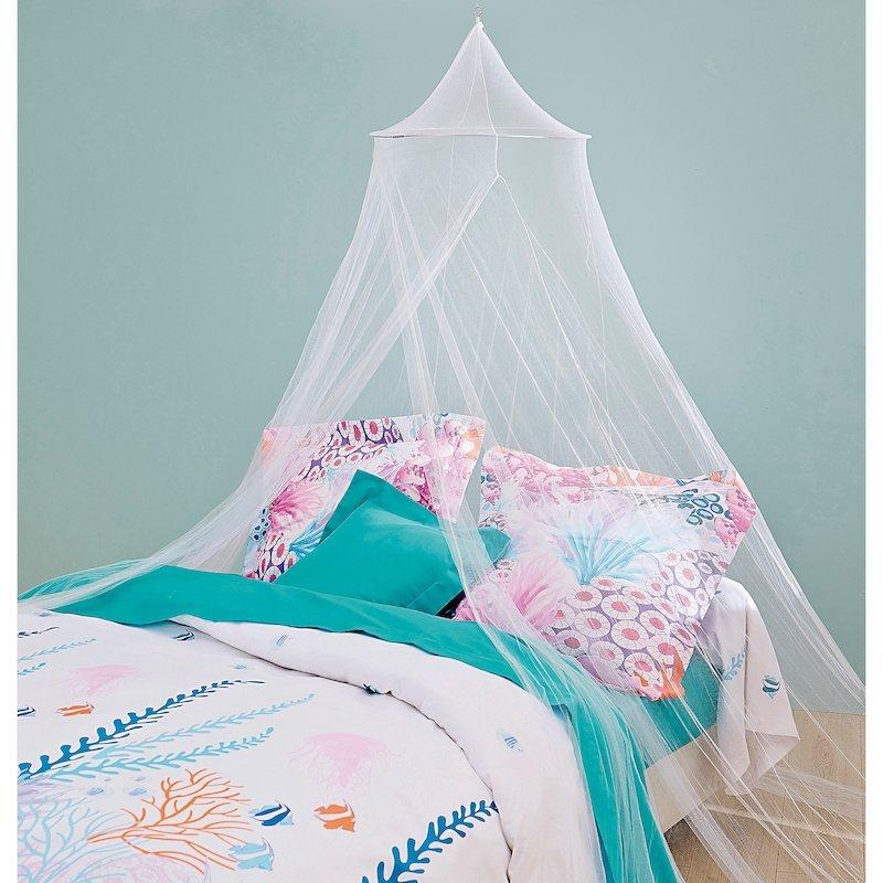 Mosquitera para cama blanco de fácil instalación