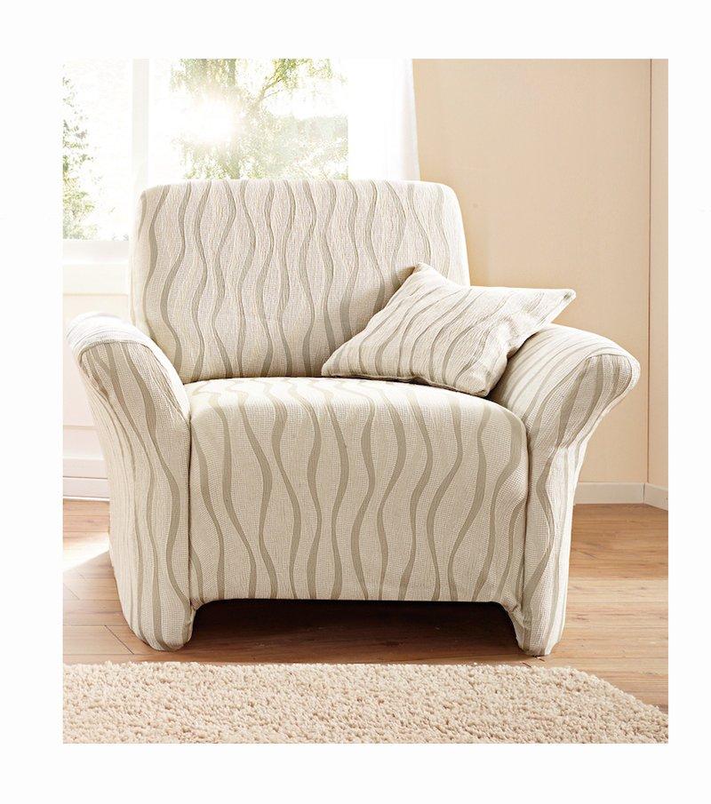 Funda sofá Andrómeda ajustable con efecto tapizado