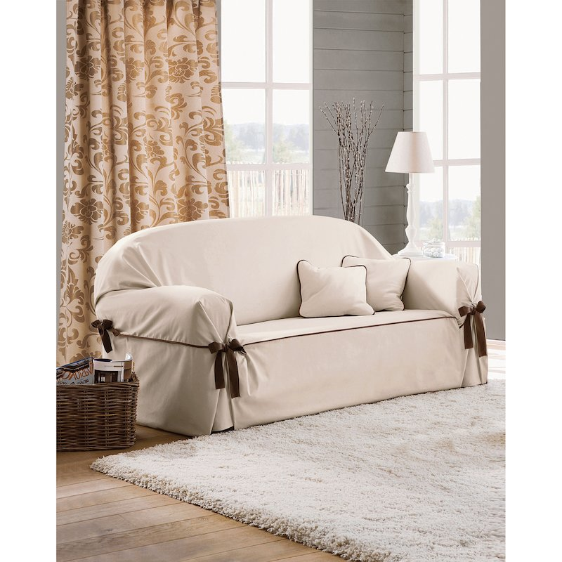 Funda de sofá con lazos a contraste Beret