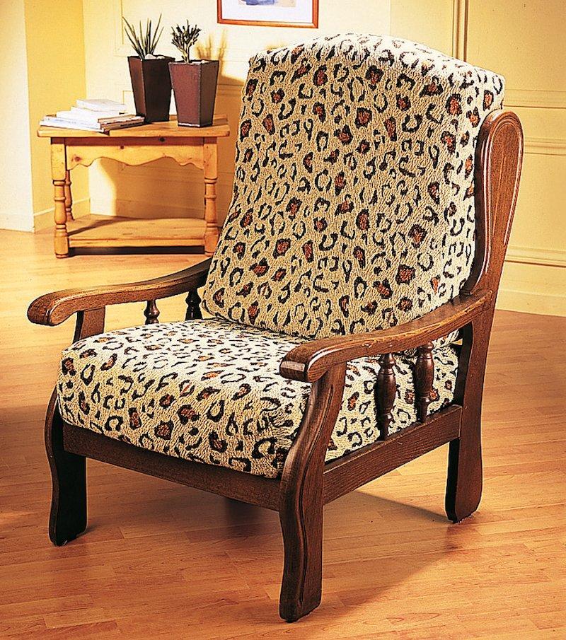 Funda de sillón extensible Leopardo