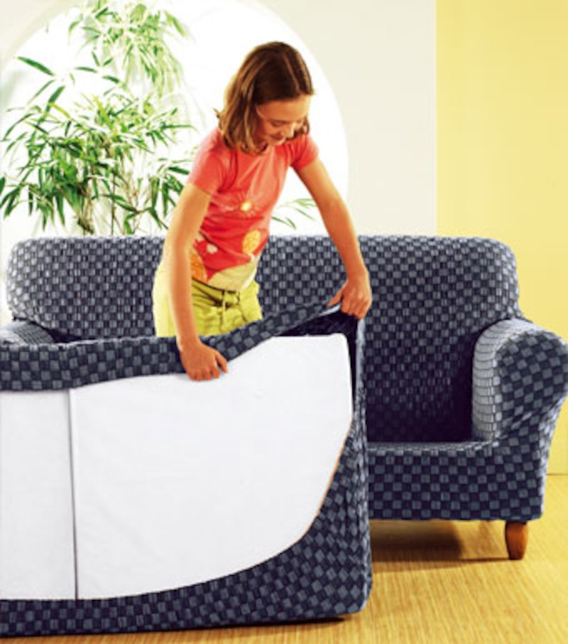 Funda de sofá extensible 2 piezas Bikini bicolor