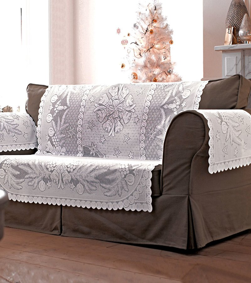 Cubre sofá ganchillo