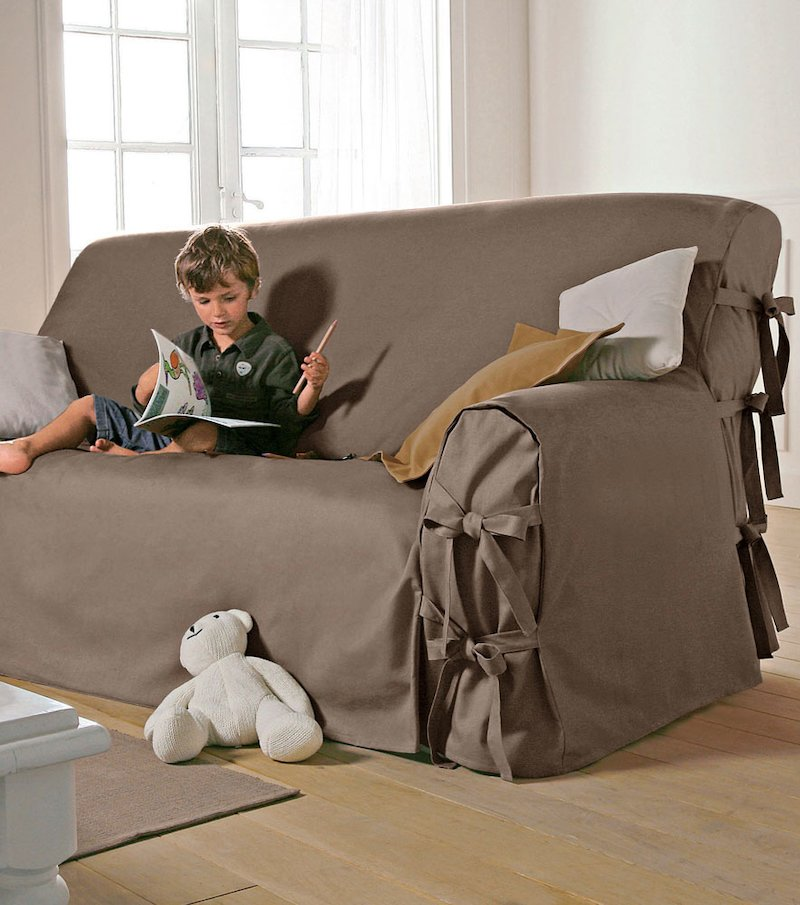 Funda sofá lazos
