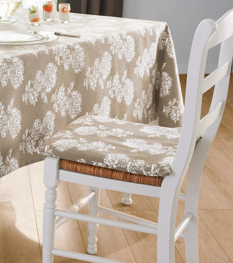 Funda de cojín silla algodón
