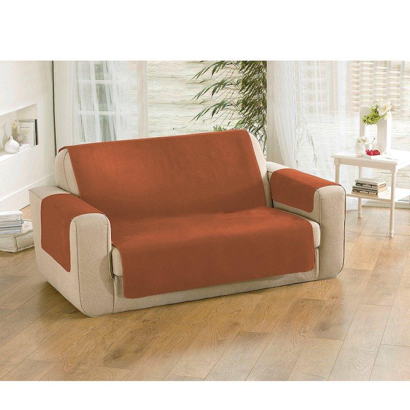 Protege sillón antideslizante tacto melocotón