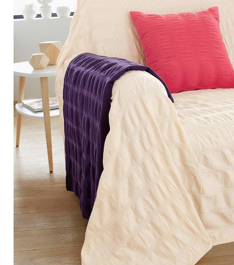 Fular plaid colcha multiusos en 100% algodón
