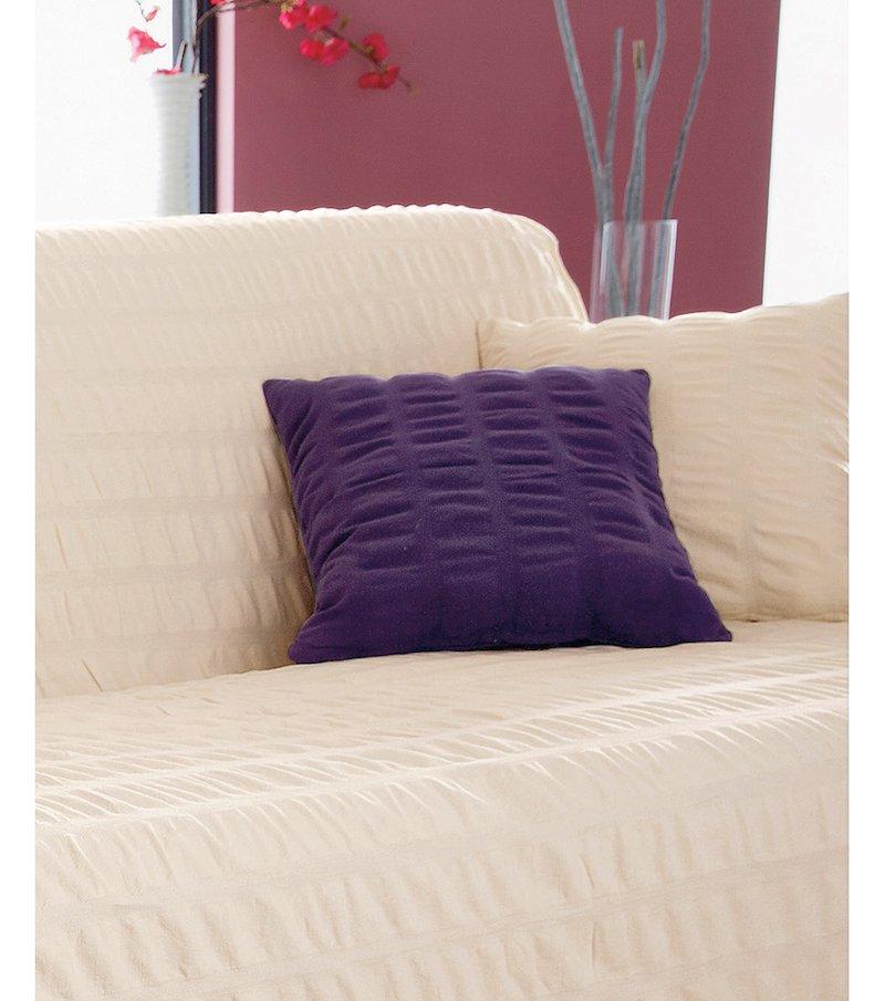 Funda cojín lisa tejido 100% algodón