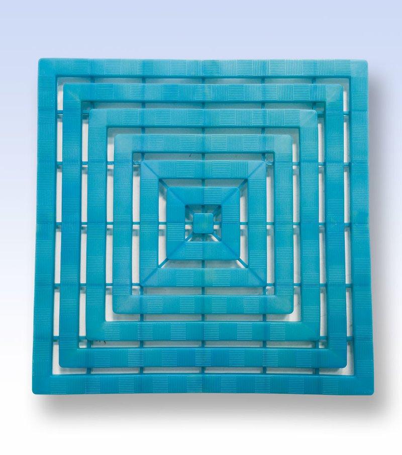 Tarima de ducha azul