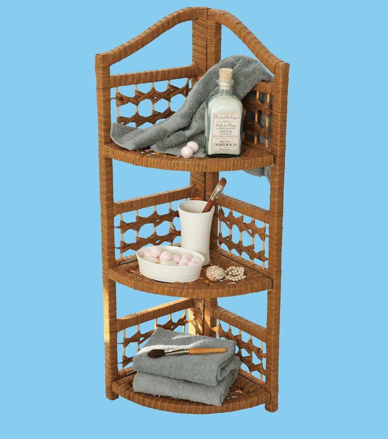 Mueble rinconera auxiliar de baño