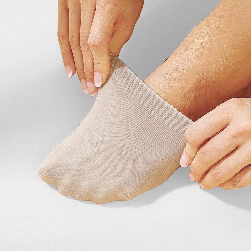Lote 5 mini calcetines elásticos - Beige