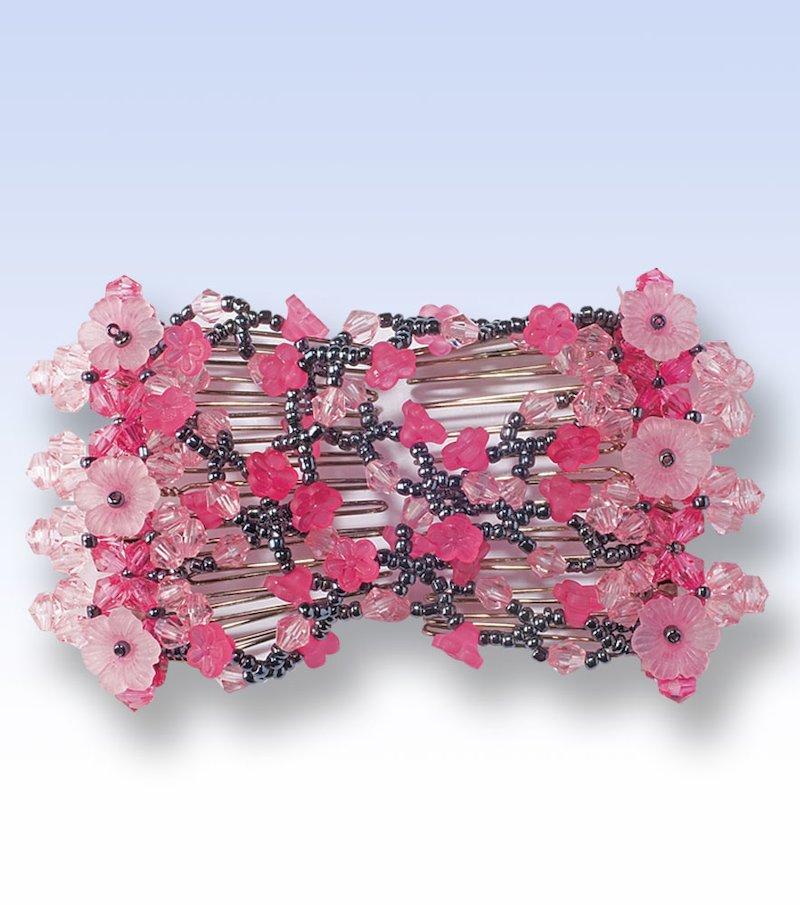 Pinza peine extensible para el cabello rosa