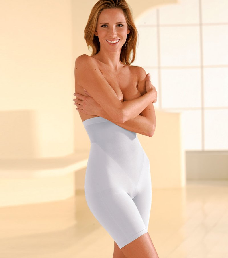 Panty push up reductor mujer de talle alto blanco