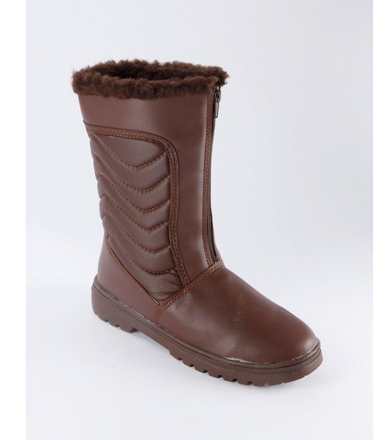 Botas antideslizantes con crampón marrón