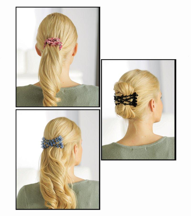 Pinza peine extensible para el cabello blanco