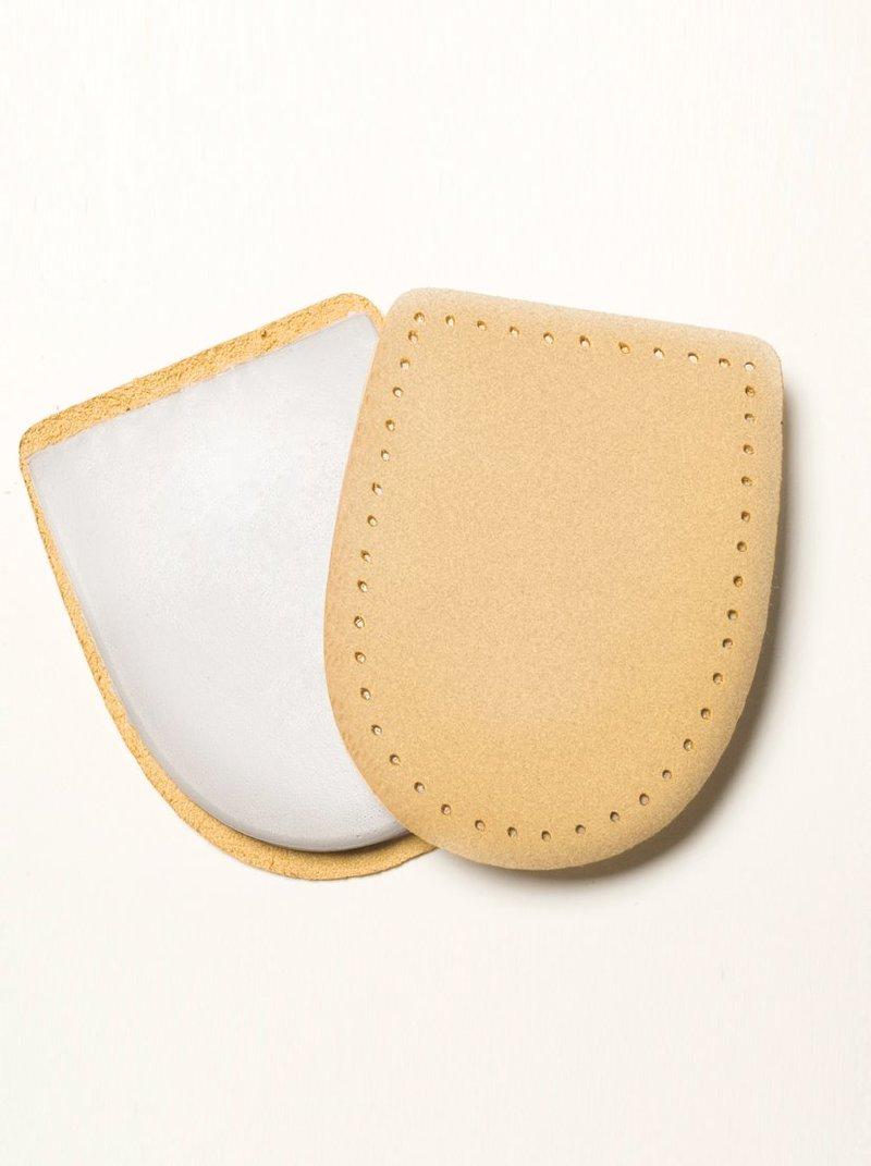Lote de 2 pares de taloneras en material símil piel beige